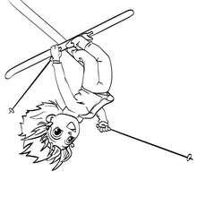 Dibujo para colorear : el esquiador