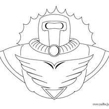 Dibujo para colorear : Armario de superheroe