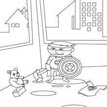 Dibujo SuperNiño - Dibujos para Colorear y Pintar - Dibujos para colorear SUPERHEROES - Superheroes de Yodibujo