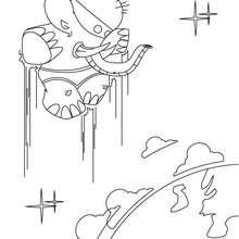 Dibujo SuperElefante - Dibujos para Colorear y Pintar - Dibujos para colorear SUPERHEROES - Superheroes de Yodibujo