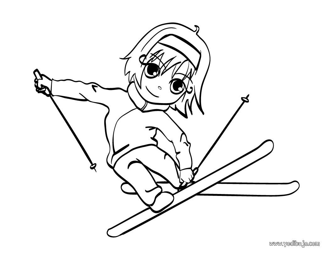 Dibujos Para Colorear La Esquiadora