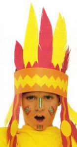 Carnaval: maquillaje de indio - Manualidades para niños - Manualidades para cada fiesta del año - Manualidades infantiles CARNAVAL - Maquillajes de CARNAVAL - Maquillaje INDIO