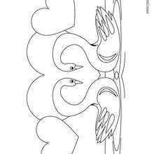 Dibujo cisnes - Dibujos para Colorear y Pintar - Dibujos para colorear ANIMALES - Dibujos AVES para colorear - Dibujo para colorear CISNE