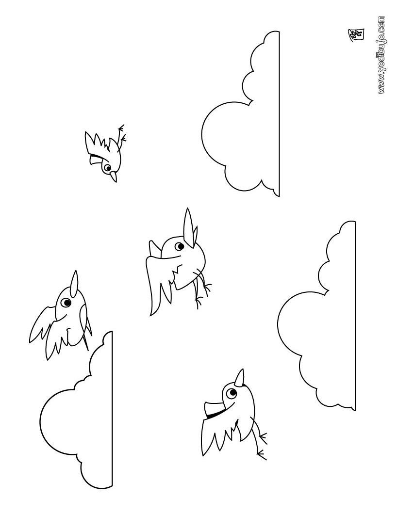Dibujo pajaritos - Dibujos para colorear e imprimir PAJAROS