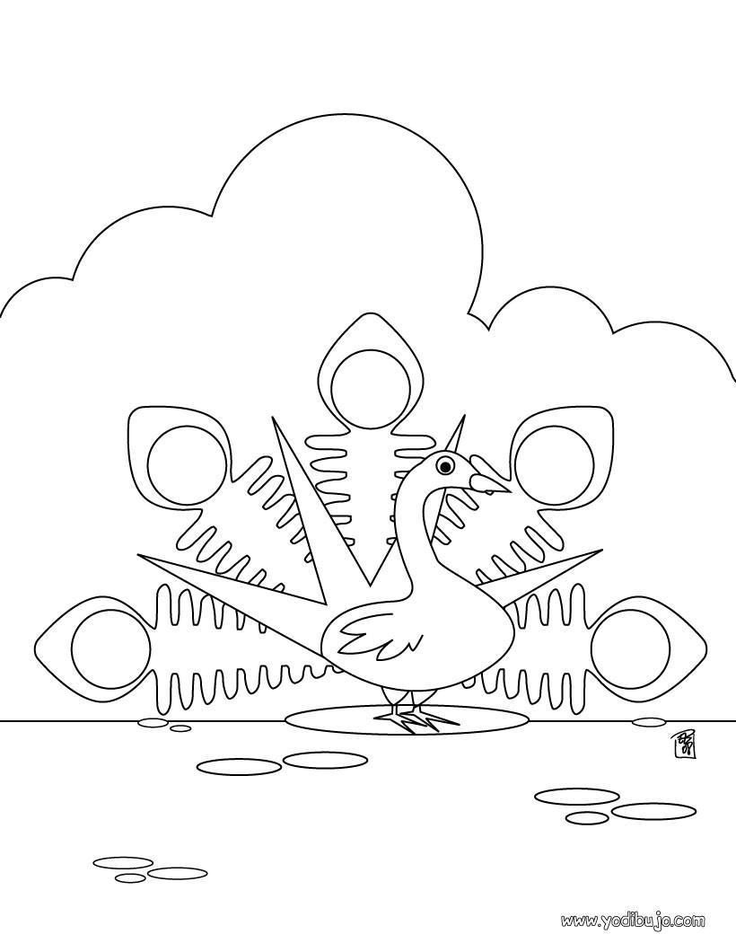 Lujo Pavo Imprimible Gratis Para Colorear Galería - Dibujos Para ...
