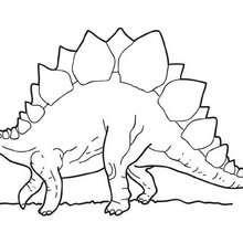 Dibujo para colorear : Estegosaurio