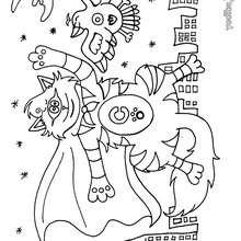 Dibujo de super gato - Dibujos para Colorear y Pintar - Dibujos para colorear ANIMALES - Dibujos GATOS para colorear - Dibujos para colorear e imprimir GATOS