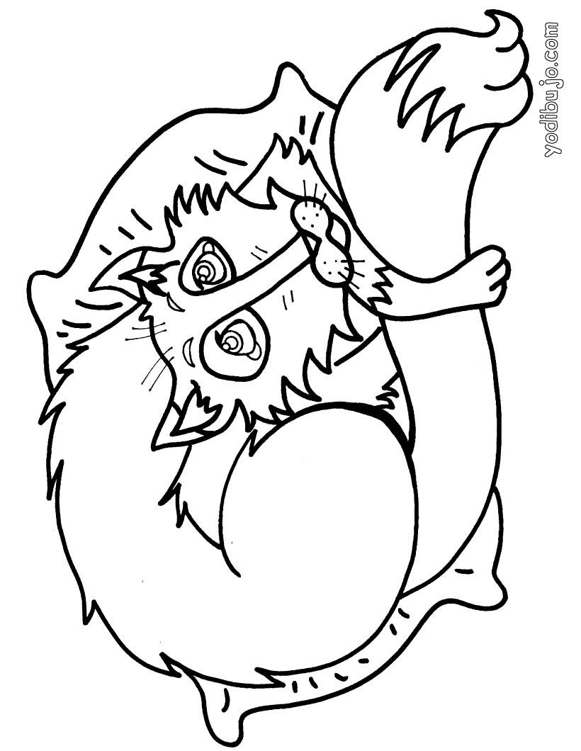 Dibujos para colorear zorro durmiendo - es.hellokids.com