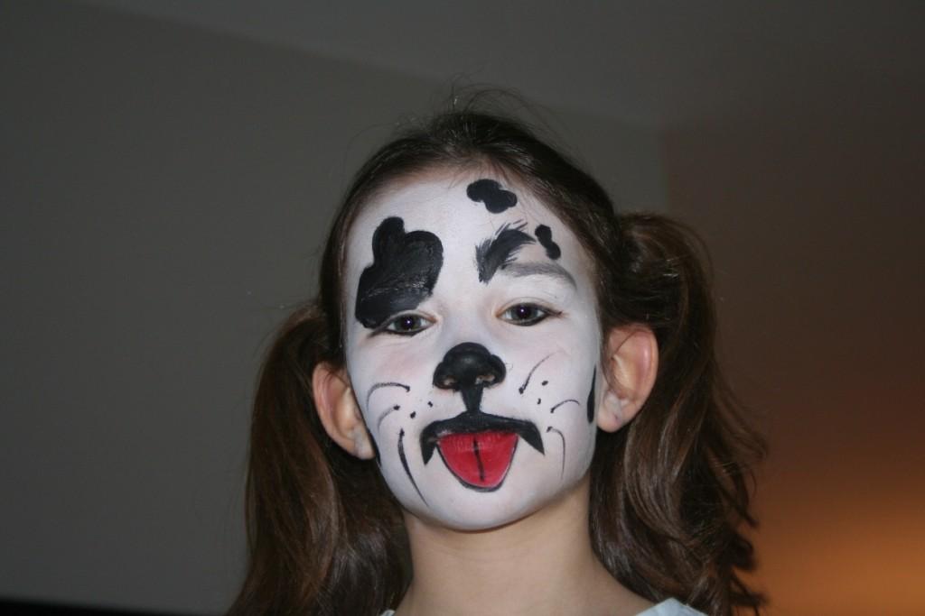Alba pintada de cachorro Dalmata...
