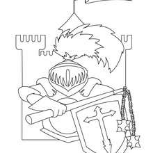 Dibujo armadura de caballero - Dibujos para Colorear y Pintar - Dibujos para colorear de FANTASIA - Dibujos para colorear CABALLEROS - Dibujos para colorear TORNEO CABALLEROS MEDIEVALES
