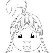 Dibujo casco de caballero - Dibujos para Colorear y Pintar - Dibujos para colorear de FANTASIA - Dibujos para colorear CABALLEROS - Dibujos para colorear ARMADURA CABALLERO EDAD MEDIA