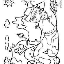 Dibujo de un campesino con su vaca para colorear - Dibujos para Colorear y Pintar - Dibujos para colorear PERSONAJES - Dibujos para colorear y pintar PERSONAJES - Varios personajes para colorear