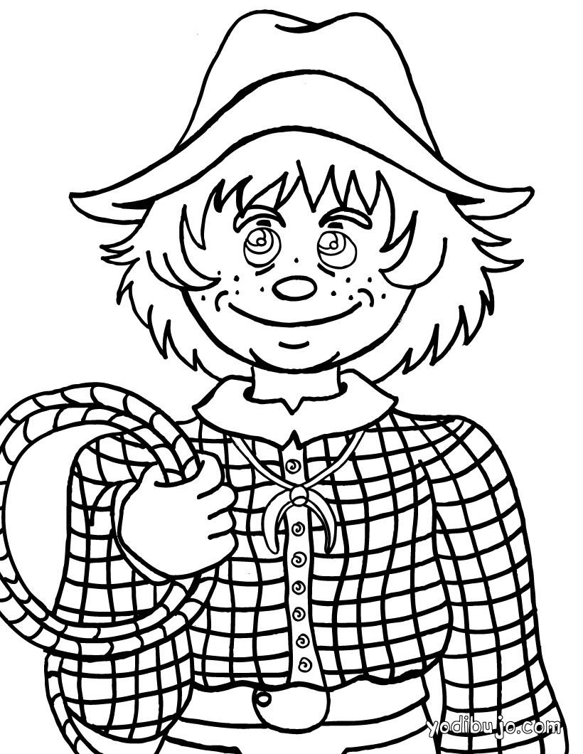 Dibujo para colorear : un chico