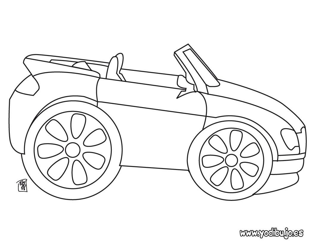 Dibujos para colorear CARROS, coche cabriolé para imprimir