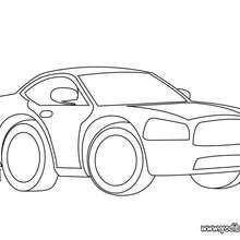 Dibujo coche deportivo - Dibujos para Colorear y Pintar - Dibujos para colorear VEHICULOS - Dibujos para colorear COCHES - Dibujos para colorear COCHES DEPORTIVOS