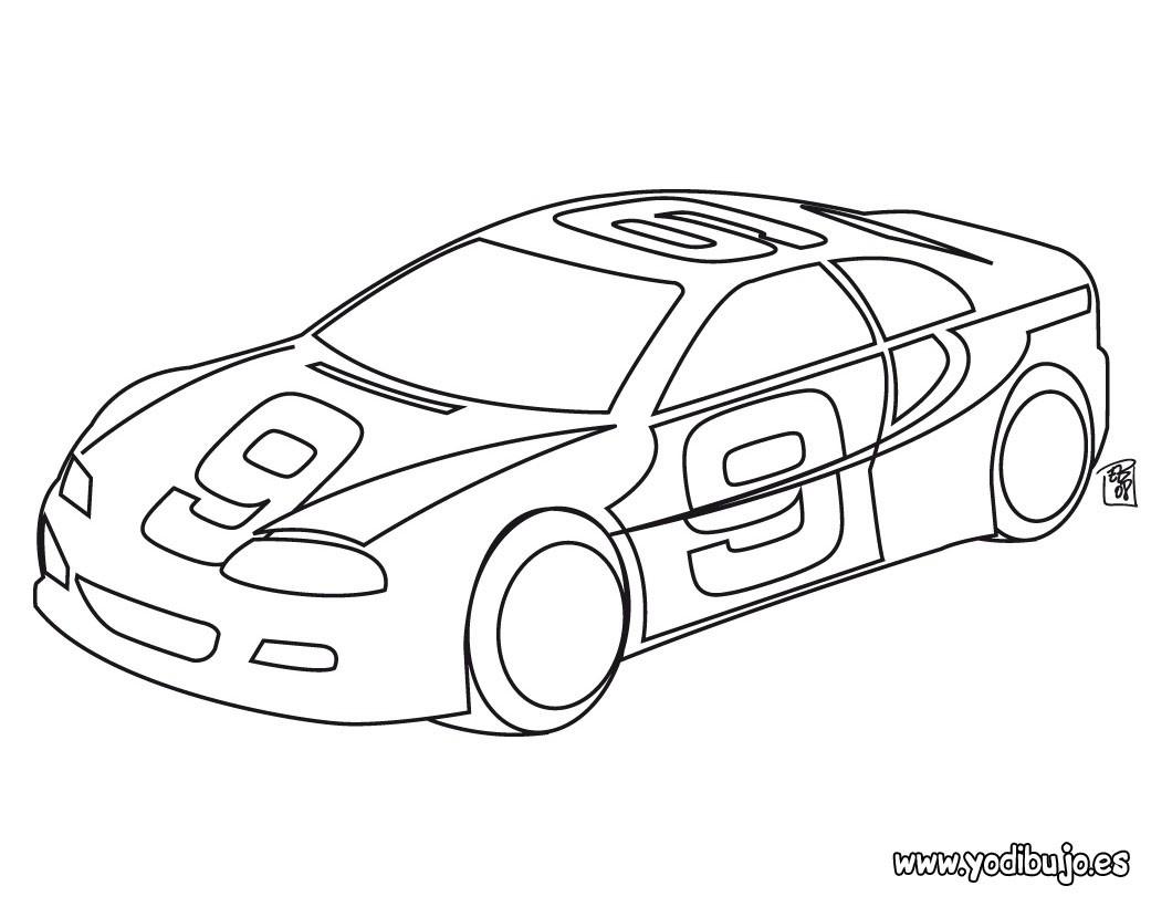 Dibujos para colorear coche de carrera  eshellokidscom