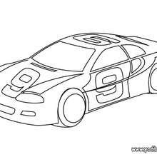 Dibujo coche de carrera - Dibujos para Colorear y Pintar - Dibujos para colorear VEHICULOS - Dibujos para colorear COCHES - Dibujos para colorear COCHES DE CARRERA