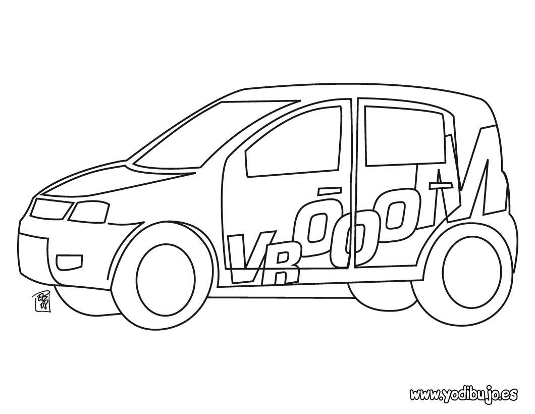 Dibujos para colorear coche chiquito  eshellokidscom