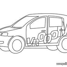 Dibujo coche chiquito - Dibujos para Colorear y Pintar - Dibujos para colorear VEHICULOS - Dibujos para colorear COCHES - Dibujos para colorear COCHES TUNING