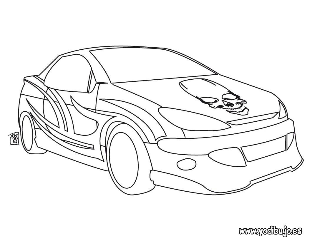 Dibujos para colorear coche calavera - es.hellokids.com