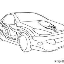 Dibujo para colorear : coche calavera