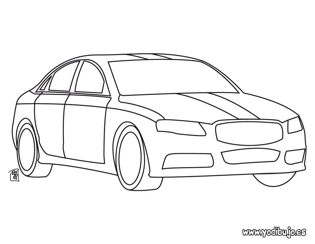 Dibujos para colorear coche de mi papá - es.hellokids.com