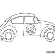 Dibujo coche Volksvagen - Dibujos para Colorear y Pintar - Dibujos para colorear VEHICULOS - Dibujos para colorear COCHES - Dibujos para colorear CARROS