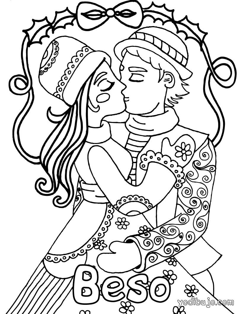 Dibujos para colorear beso de princesa  eshellokidscom