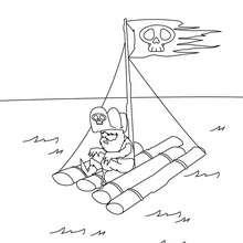 Dibujo para colorear : balsa de pirata