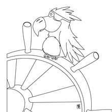 Dibujo para colorear : timón de barco de piratas