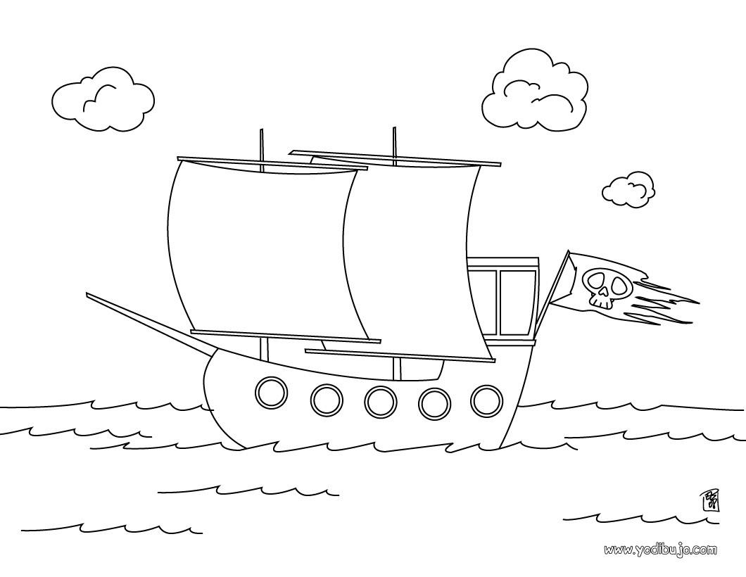 Dibujos Para Colorear Barco De Piratas Eshellokidscom