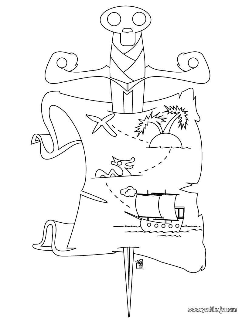 Dibujos para colorear capitán de los piratas - es.hellokids.com