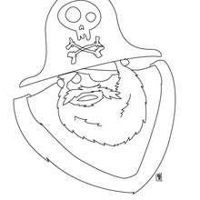 Dibujo de un pirata - Dibujos para Colorear y Pintar - Dibujos para colorear PERSONAJES - Dibujos de PIRATAS para colorear