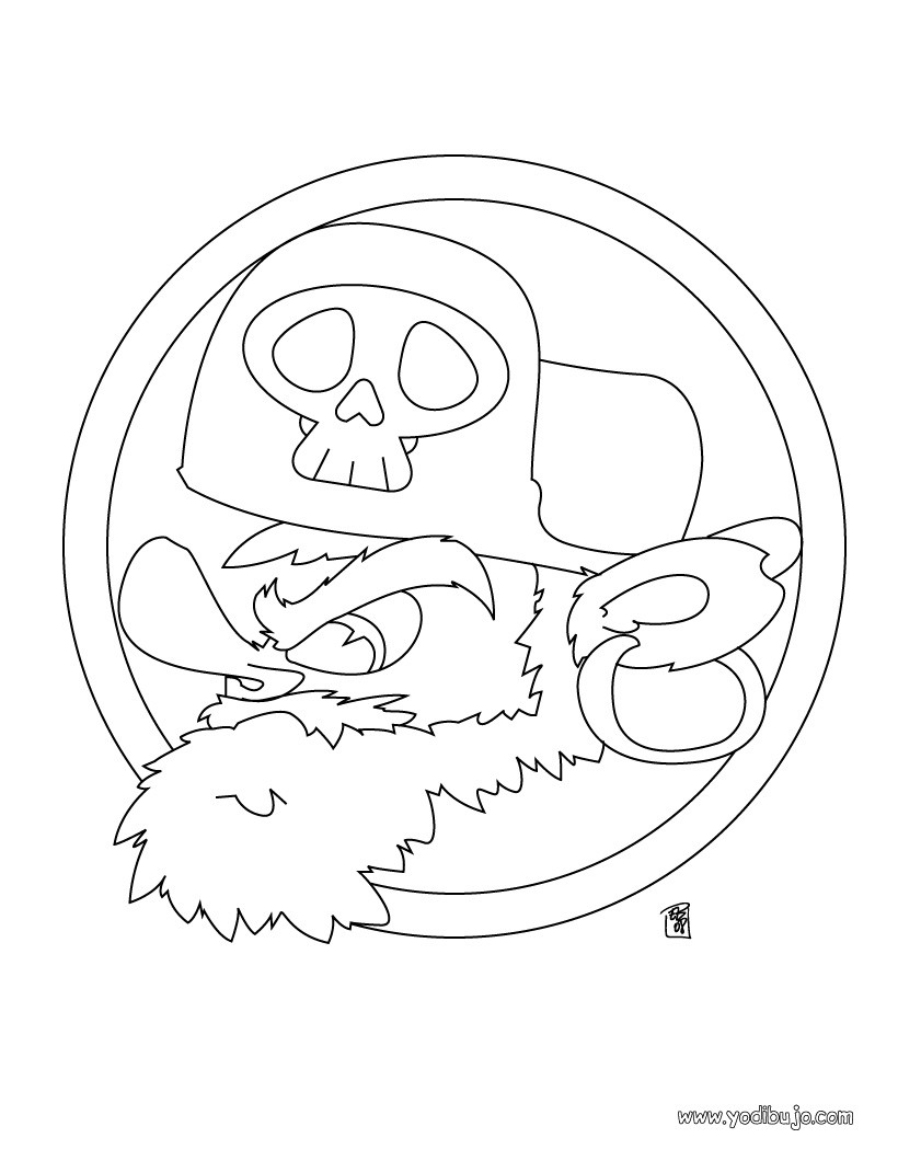 Dibujo para colorear : cara de pirata