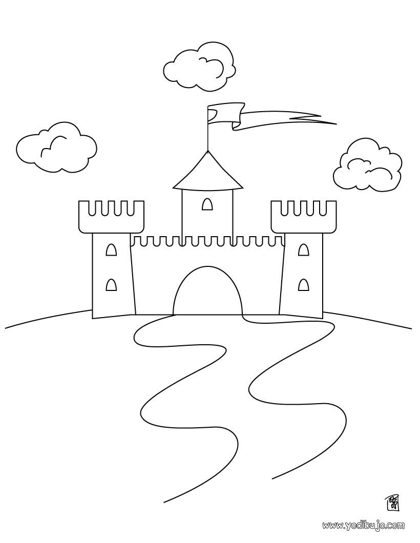 Dibujo para colorear : Castillo