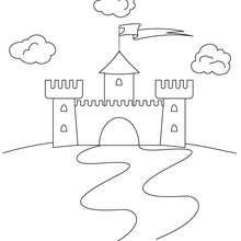 Dibujo Castillo - Dibujos para Colorear y Pintar - Dibujos para colorear de FANTASIA - Dibujos para colorear CASTILLOS