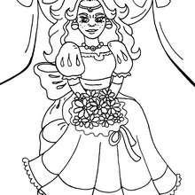 Dibujo vestido de princesa muy bello para colorear - Dibujos para Colorear y Pintar - Dibujos de PRINCESAS para colorear - Dibujos para pintar PRINCESAS
