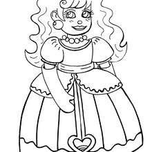 Dibujo princesa Menina - Dibujos para Colorear y Pintar - Dibujos de PRINCESAS para colorear - Dibujos de PRINCESA ESPAÑOLA para colorear