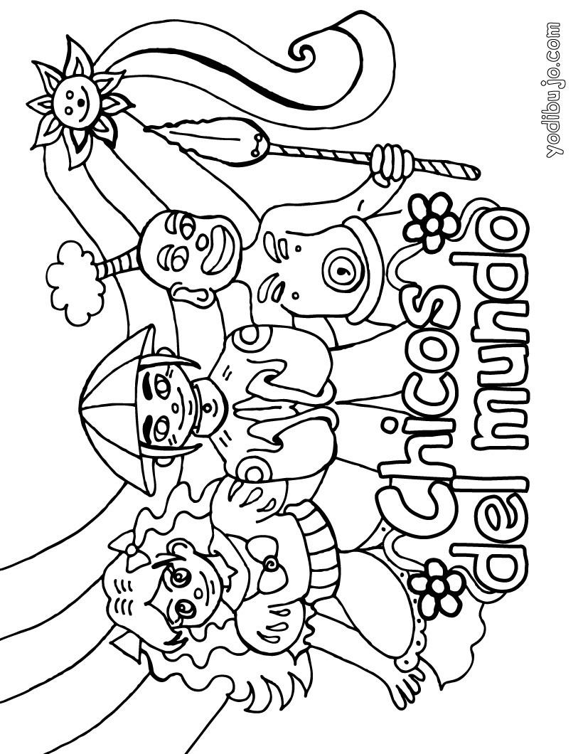 Niños del Mundo - Dibujos para colorear los PAISES