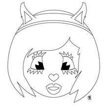 Dibujo de una cara de Vikingo para colorear - Dibujos para Colorear y Pintar - Dibujos para colorear PERSONAJES - Dibujos para colorear y pintar PERSONAJES - Varios personajes para colorear
