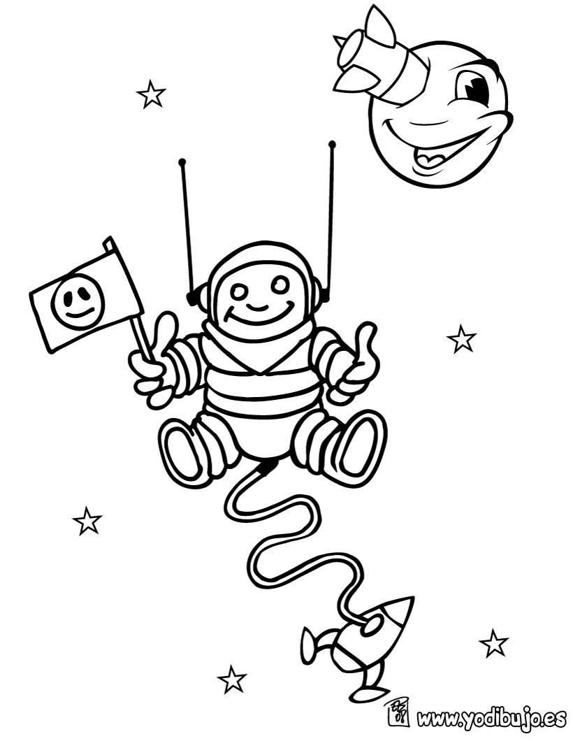 Dibujo para colorear : astronauta