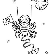 Dibujo astronauta - Dibujos para Colorear y Pintar - Dibujos infantiles para colorear - Dibujos ESPACIO y EXTRATERRESTRES para colorear