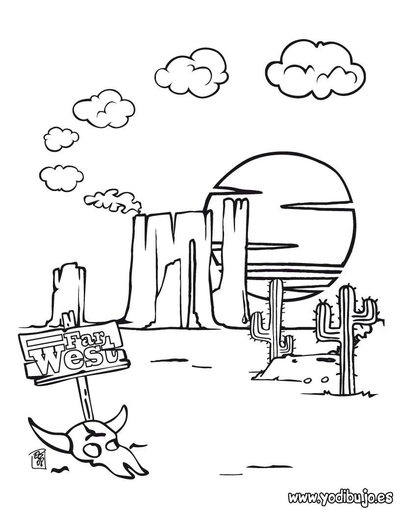 Dibujos para colorear desierto  eshellokidscom