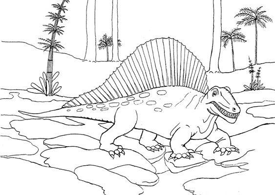 Mandalas Para Colorear Dinosaurios Animales De Leyenda: Dimetrodon Para Pintar