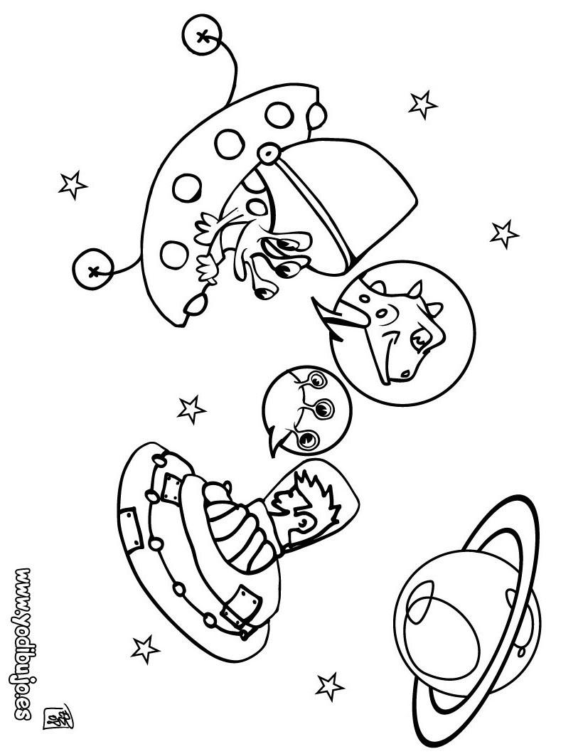 Dibujos ESPACIO y EXTRATERRESTRES para colorear - 23 dibujos gratis ...
