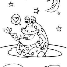 Dibujo monstruo galáctico - Dibujos para Colorear y Pintar - Dibujos infantiles para colorear - Dibujos ESPACIO y EXTRATERRESTRES para colorear