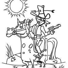 Dibujo de un bandido - Dibujos para Colorear y Pintar - Dibujos para colorear PERSONAJES - Vaqueros e indios: dibujos para pintar