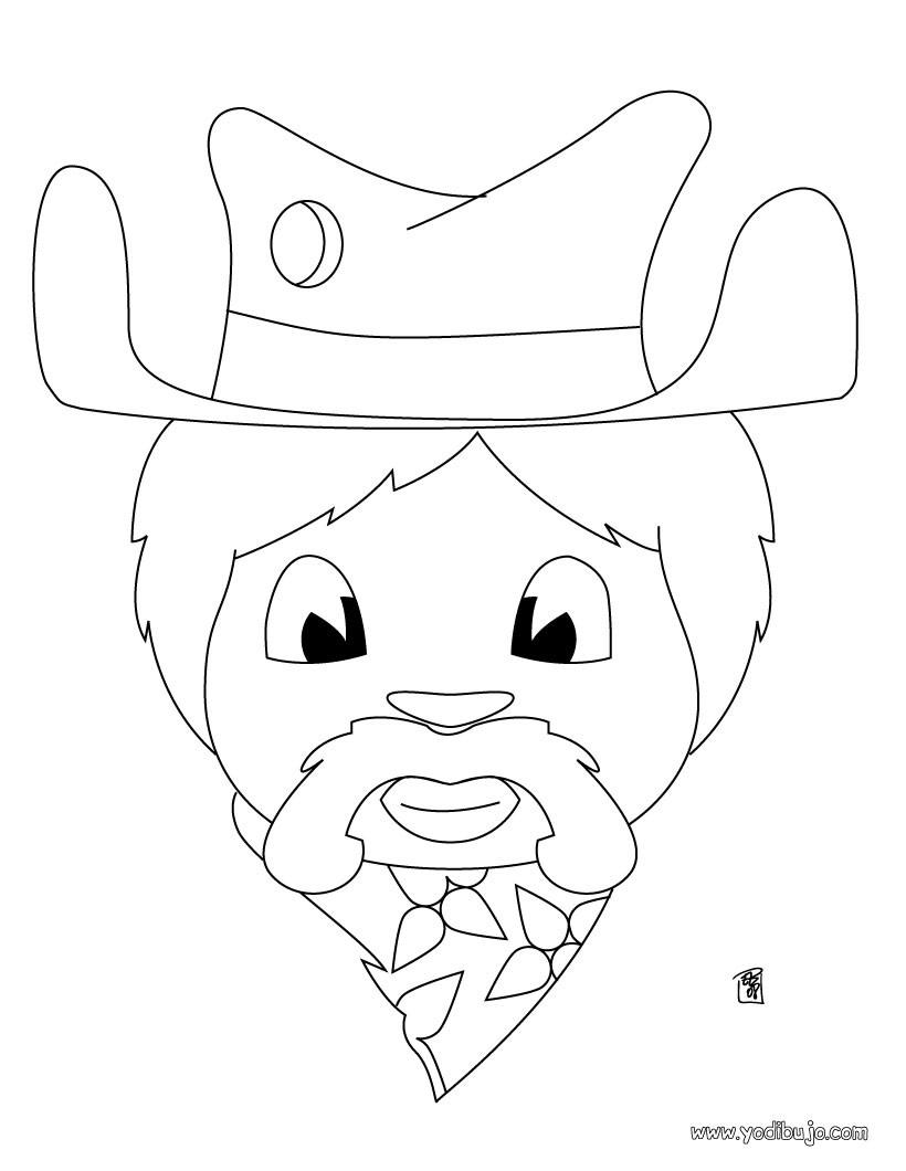Dibujos para colorear retrato del sheriff - es.hellokids.com