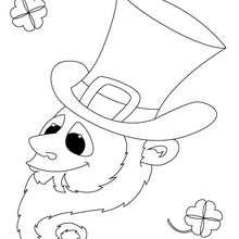 Dibujo trébol y duende de san patricio para colorear - Dibujos para Colorear y Pintar - Dibujos para colorear FIESTAS - Dibujos para colorear SAN PATRICIO