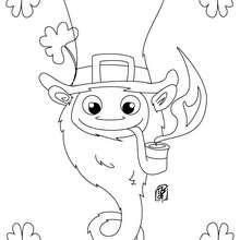 Dibujo del duende y el trébol del dia de san patricio para colorear - Dibujos para Colorear y Pintar - Dibujos para colorear FIESTAS - Dibujos para colorear SAN PATRICIO